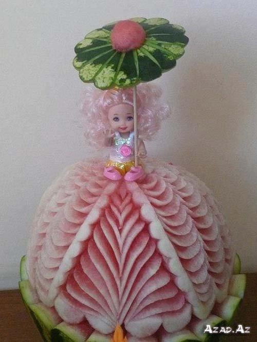Кукла из овощей и фруктов своими руками фото