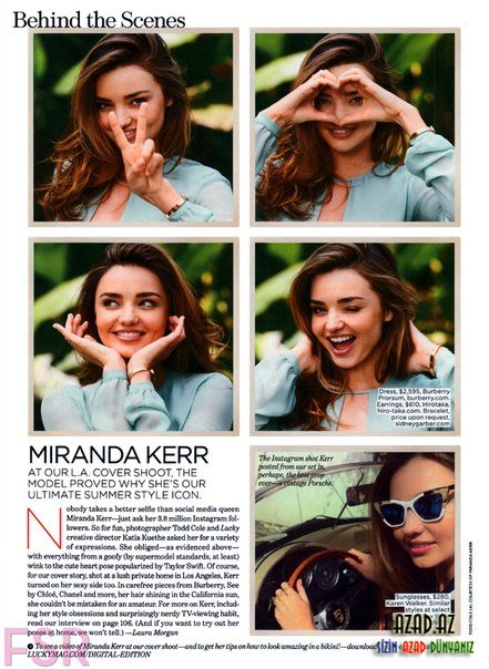Miranda Kerr - Lucky Magazine June/July 2014