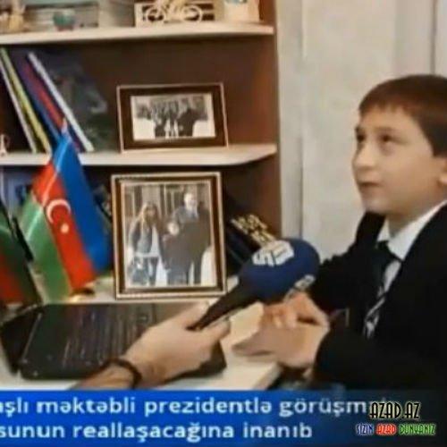 İlham Əliyevi ad gününə dəvət edən məktəbli danışdı- VİDEO