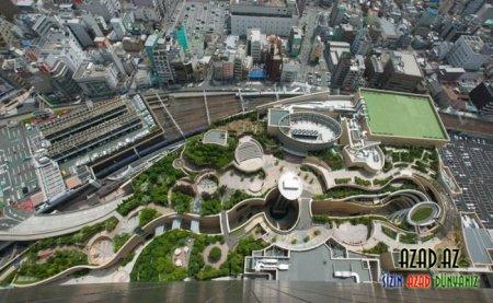 """Valehedici park """"Namba Parks"""" Yaponiyada"""